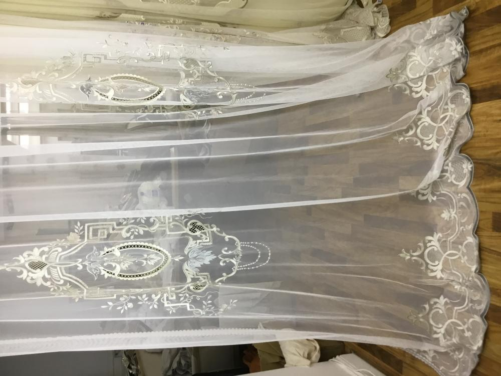 The curtain Wire netting embroidered 3