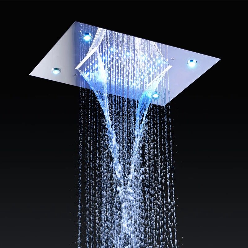 Rain Shower Head with 4 LED Lights