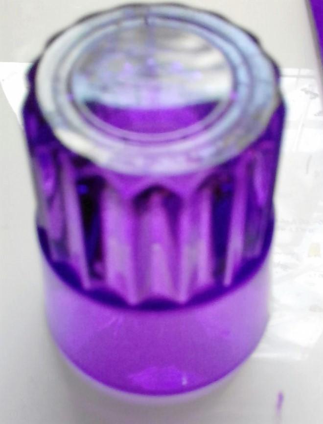 прозрачный фиолетовый с краской G127