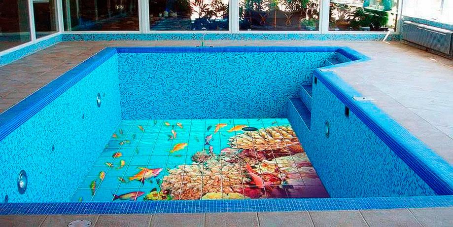 3D мозаика для бассейнов и саун