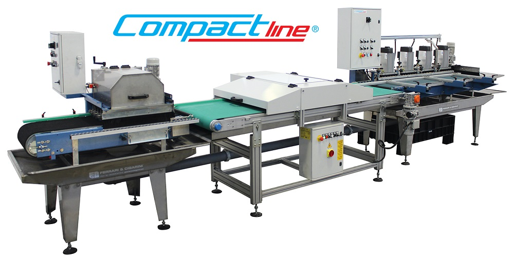COMPACTLINE - AUTOMATIC CUTTING AND EDGING-PROFILING LINE FOR CERAMIC, MARBLE AND STONE