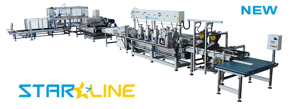 STARLINE - AUTOMATIC CUTTING AND EDGING-PROFILING LINE FOR CERAMIC, MARBLE AND STONE