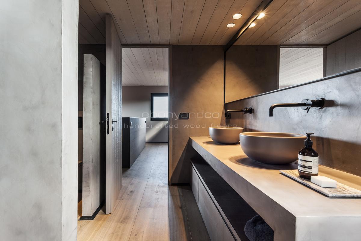 Деревянный пол ручной работы из инженерного Континентального Дуба Селект шириной 40 см. Барселона