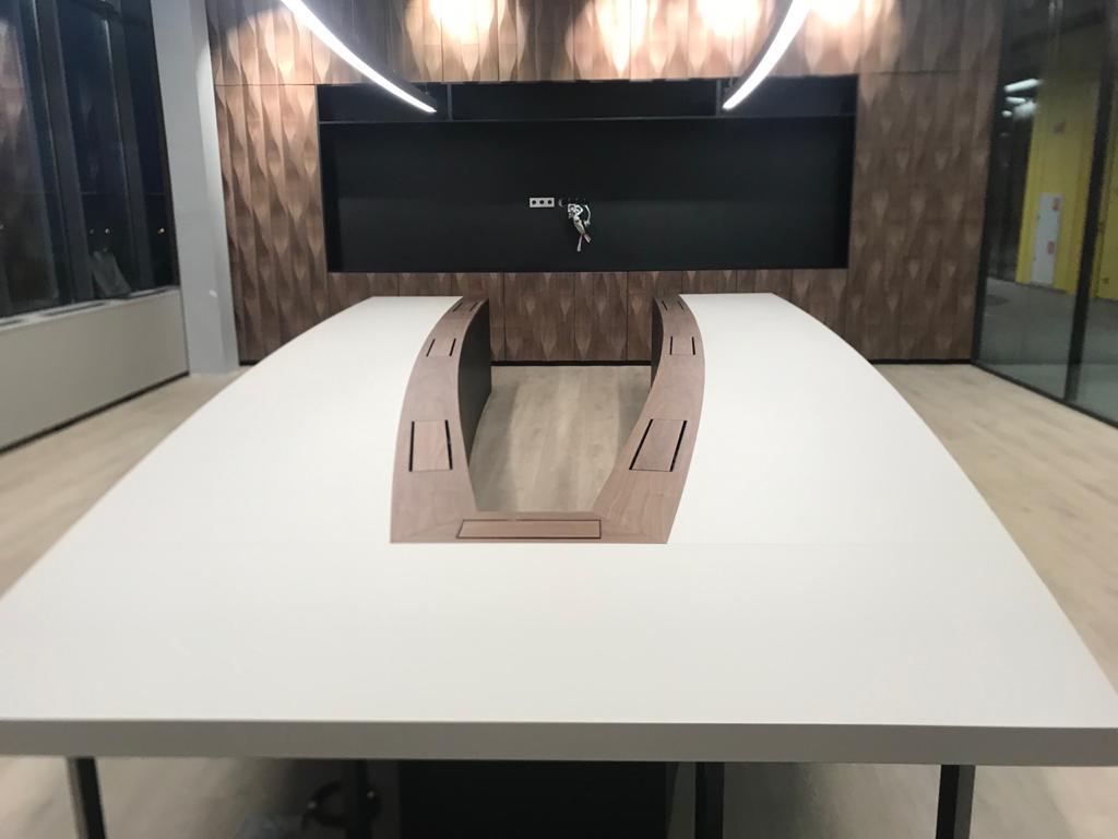 v-shaped table (fenix, walnut veneer), 3d cabinet