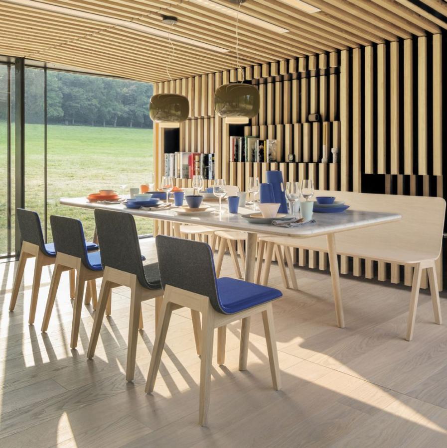 стол, стулья, скамья ALKI (Франция)